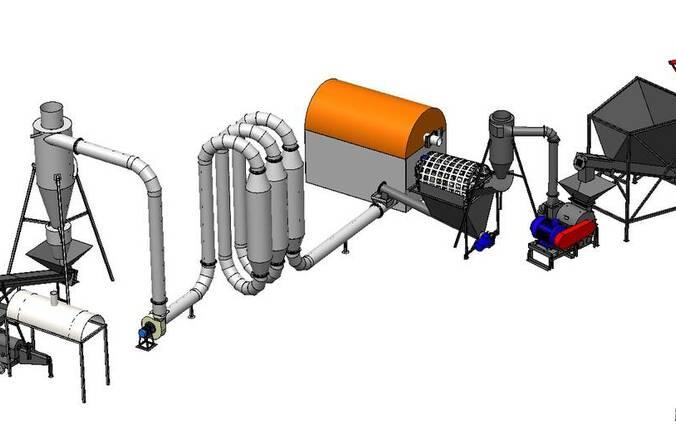 LPBU-200. Línea para la produccion de briquetas (200 kg/hr)