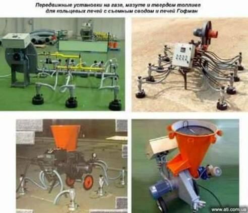 Передвижные установки на газе, мазуте и твердом топливе для