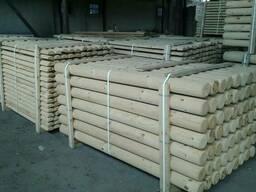 Оцилиндрованные колья machine rounded poles postes torneados