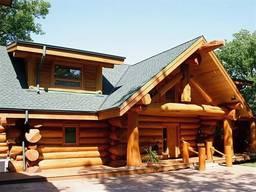 Срубы домов из дерева под рубанок