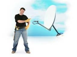 Установка спутникового телевидения, интернета