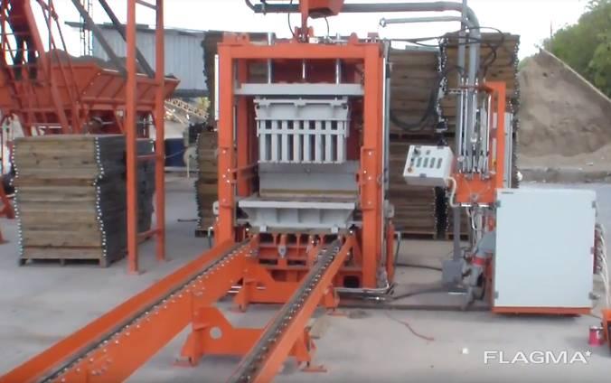 Вибропресс для производства тротуарной плитки, бордюров R30